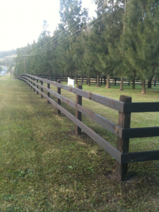 Ranch Style Rural Fencing Treated Pine