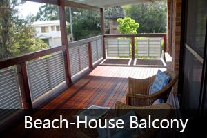 Beach-house balcony