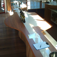 Blackbutt 8 metre benchtop with granite insert