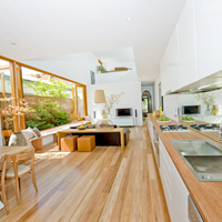 Blackbutt Benchtop and floor