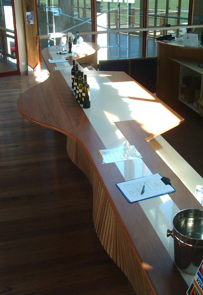 Blackbutt shaped bench top - Wide board