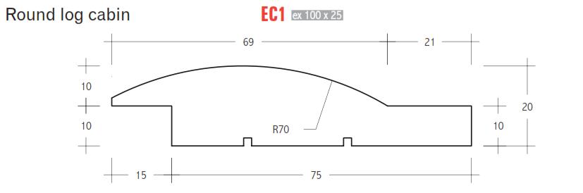 EC1 - Round Log Cabin - Cypress Pine