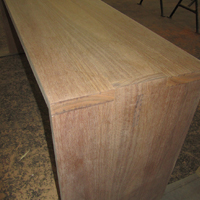 QLD Spotted Gum Table corner detail