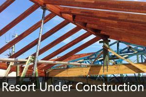 Resort under construction
