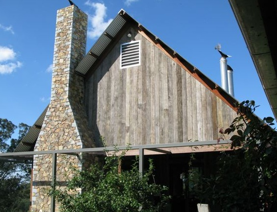grey faced weaterboard gable