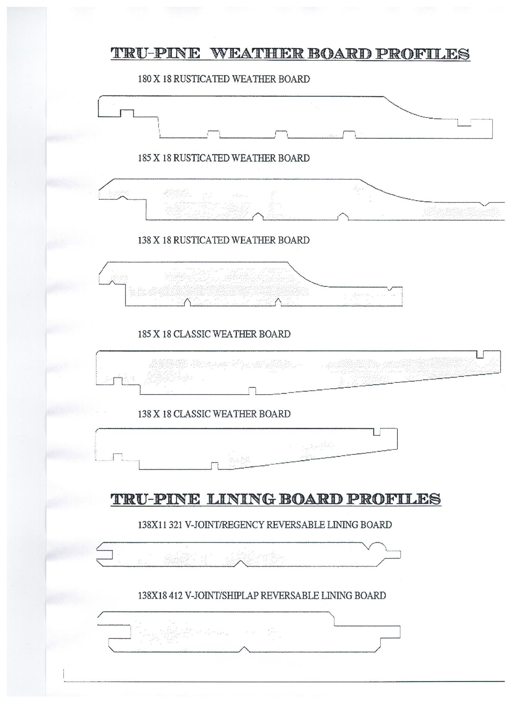 Tru Pine Profiles